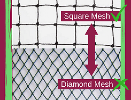 Why we use square mesh netting…..